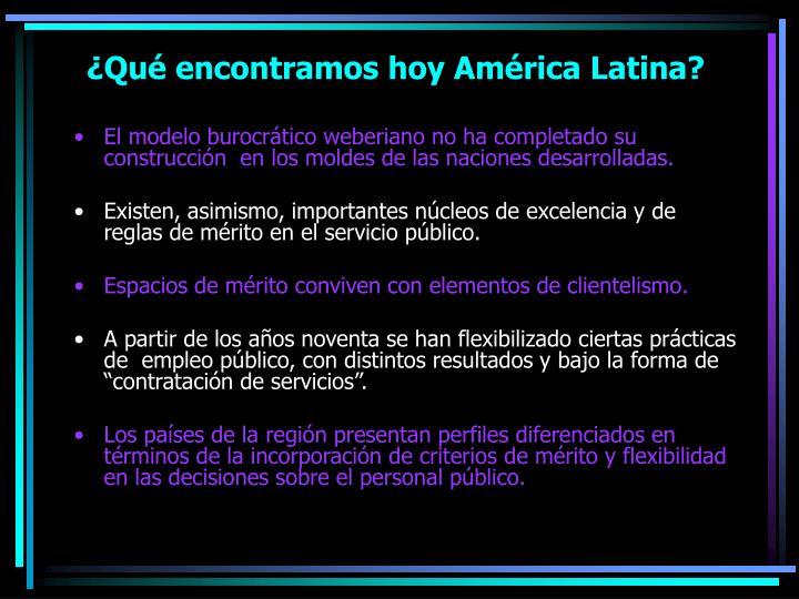 ¿Qué encontramos hoy América Latina?