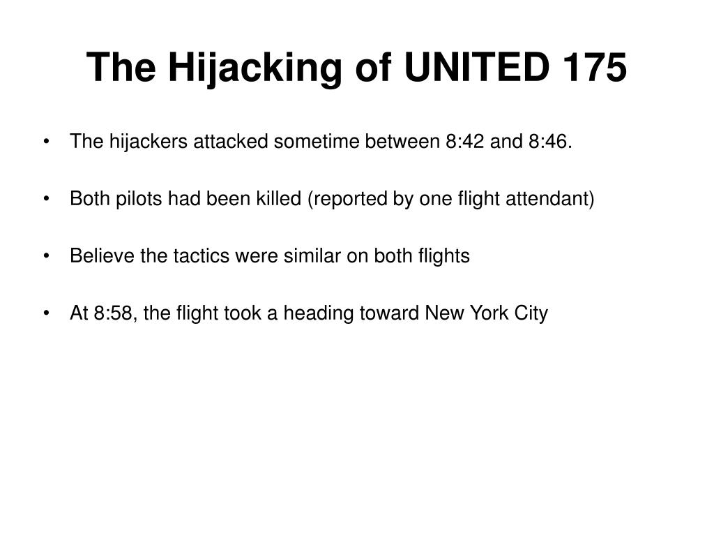 The Hijacking of UNITED 175