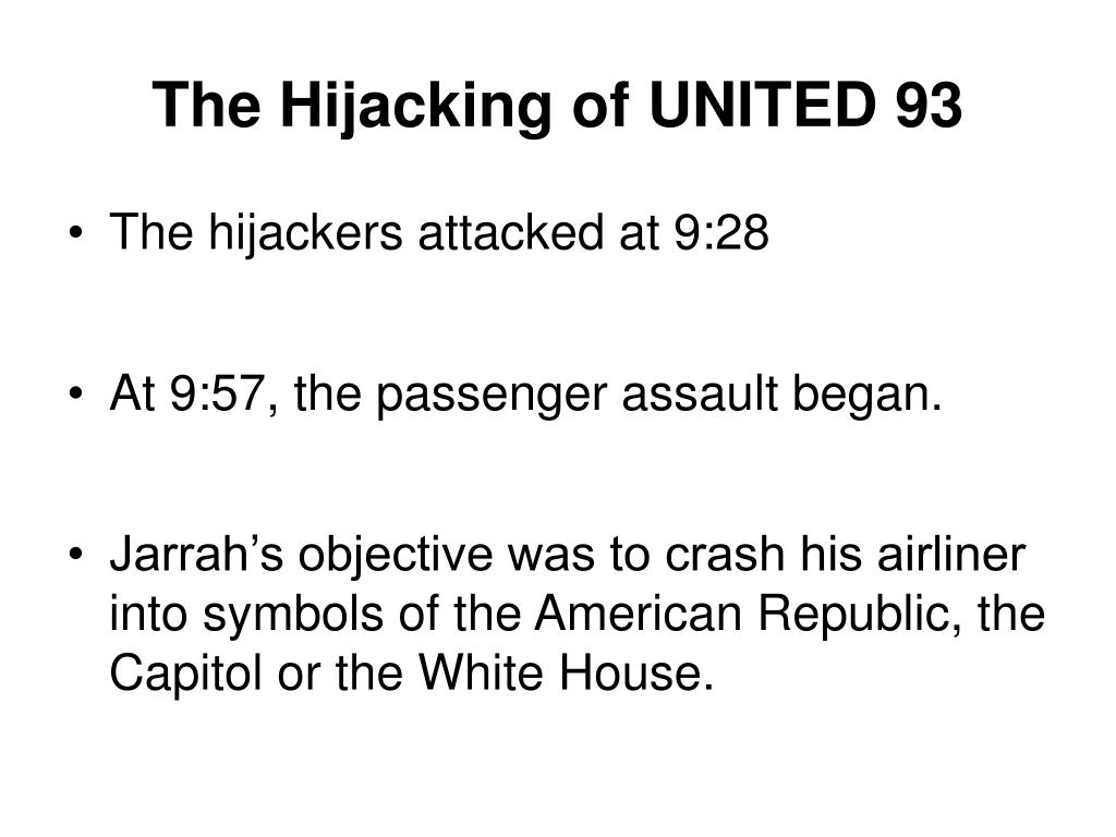 The Hijacking of UNITED 93