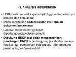 3 analisis independen