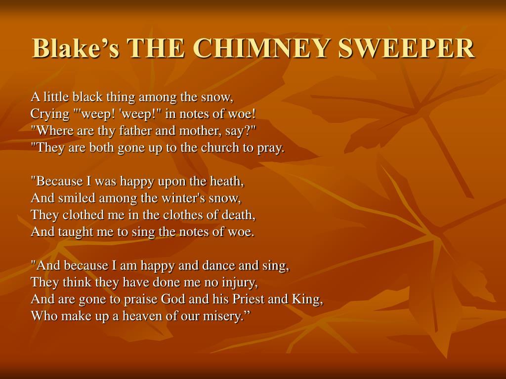 Blake's THE CHIMNEY SWEEPER