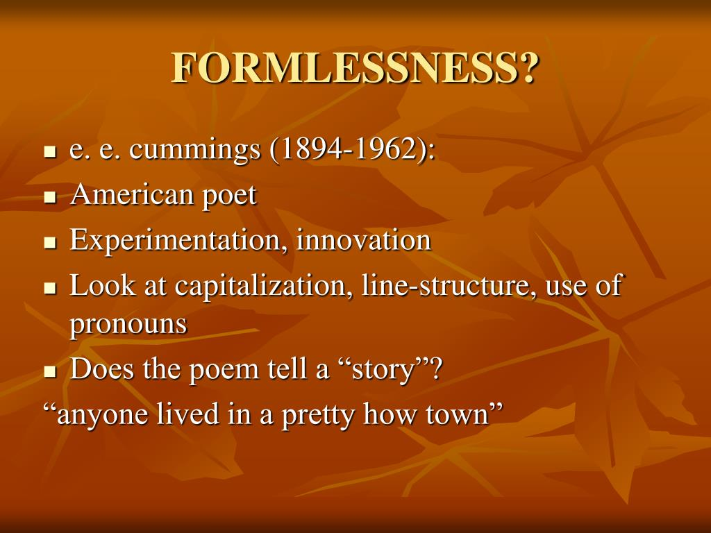 FORMLESSNESS?