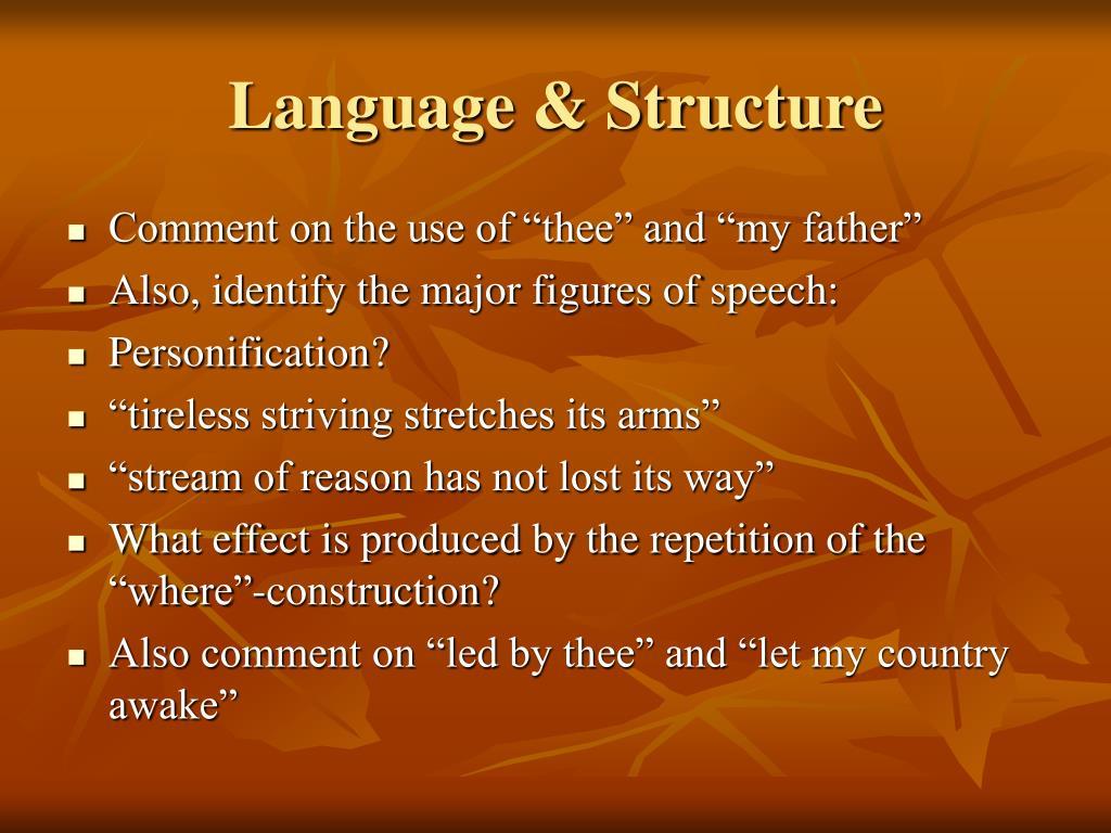 Language & Structure