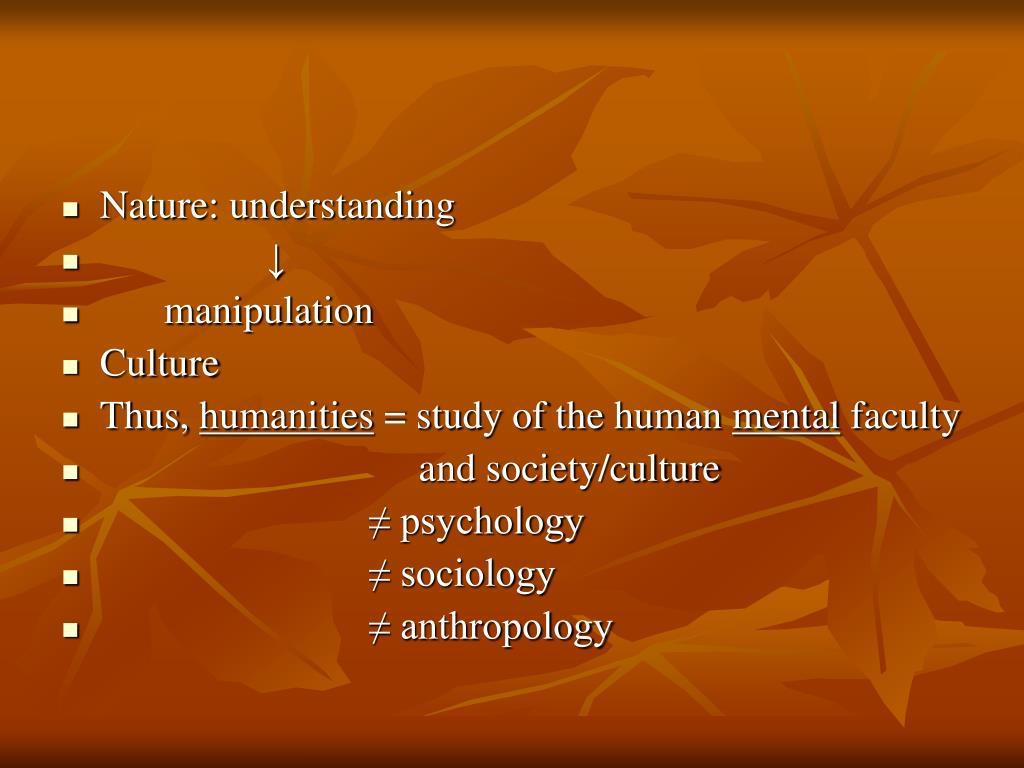 Nature: understanding