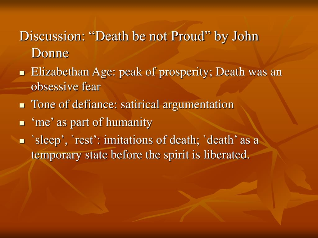 """Discussion: """"Death be not Proud"""" by John Donne"""