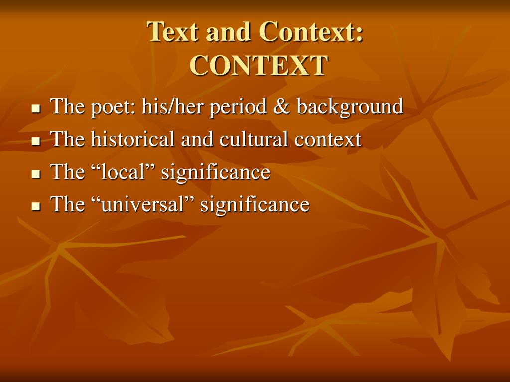 Text and Context: