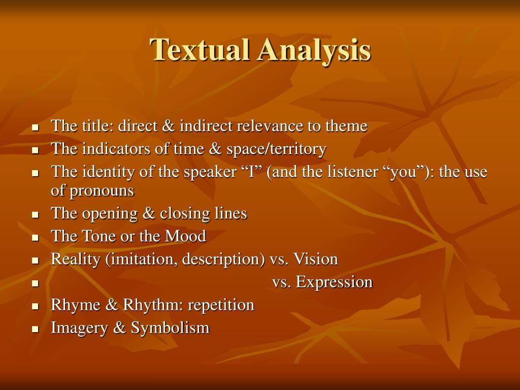 Textual Analysis