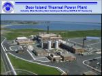 deer island thermal power plant including nstar building main switchgear building nmps wt headworks