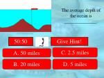 the average depth of the ocean is