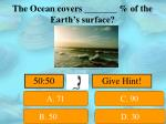 the ocean covers of the earth s surface