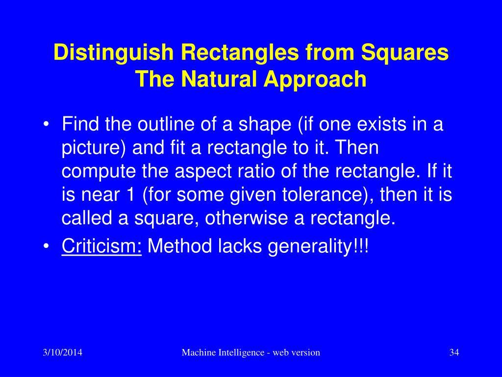 Distinguish Rectangles from Squares