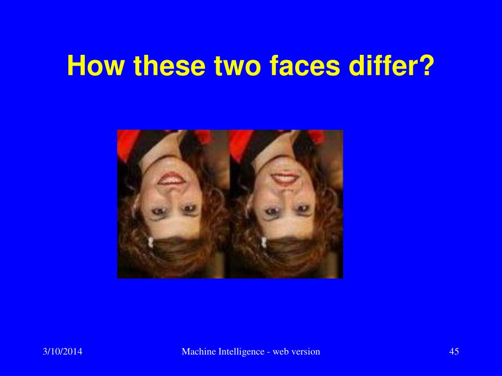 How these two faces differ?