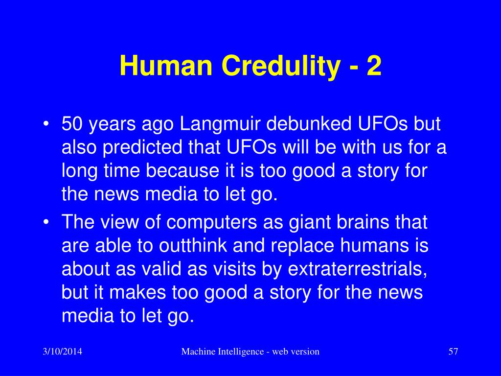 Human Credulity - 2