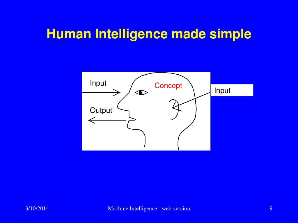Human Intelligence made simple