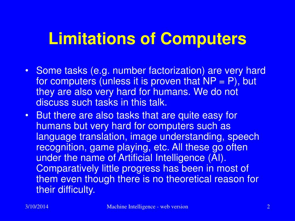 Limitations of Computers