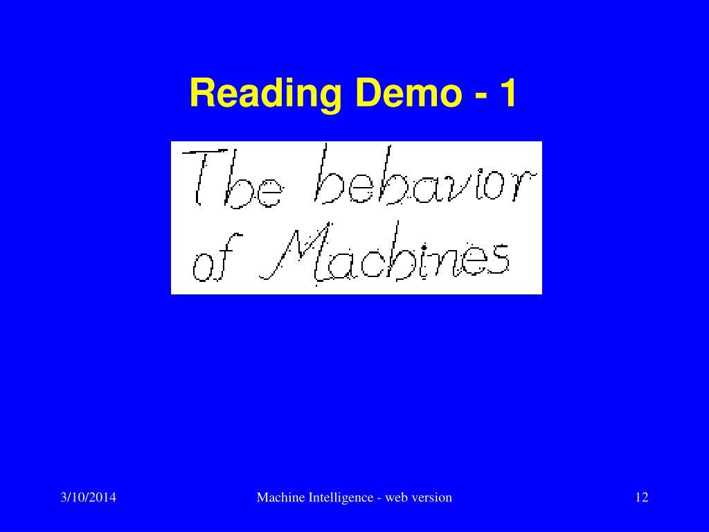 Reading Demo - 1