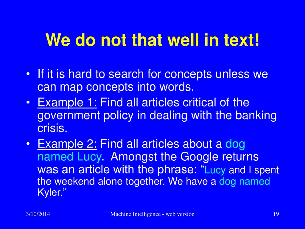 We do not that well in text!