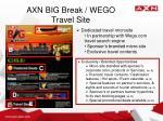 axn big break wego travel site