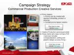 campaign strategy commercial production creative services