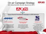 on air campaign strategy spe networks axn animax beyond and set