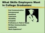 what skills employers want in college graduates