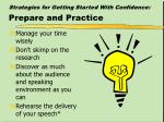 strategies for getting started with confidence prepare and practice