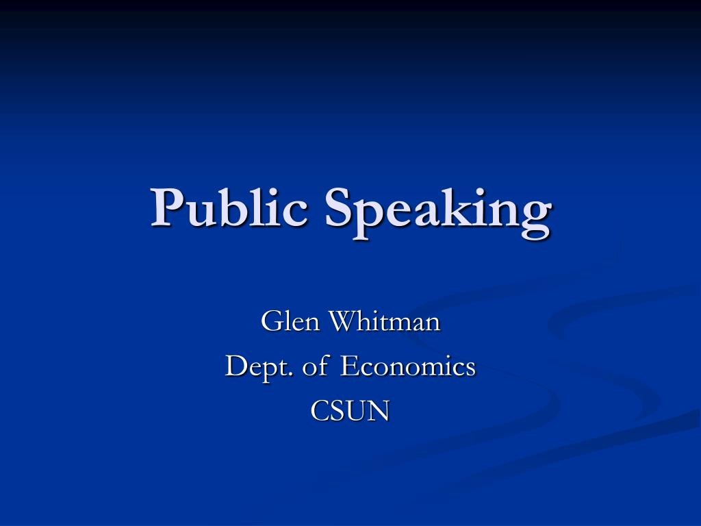 public speaking l.