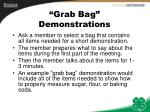 grab bag demonstrations