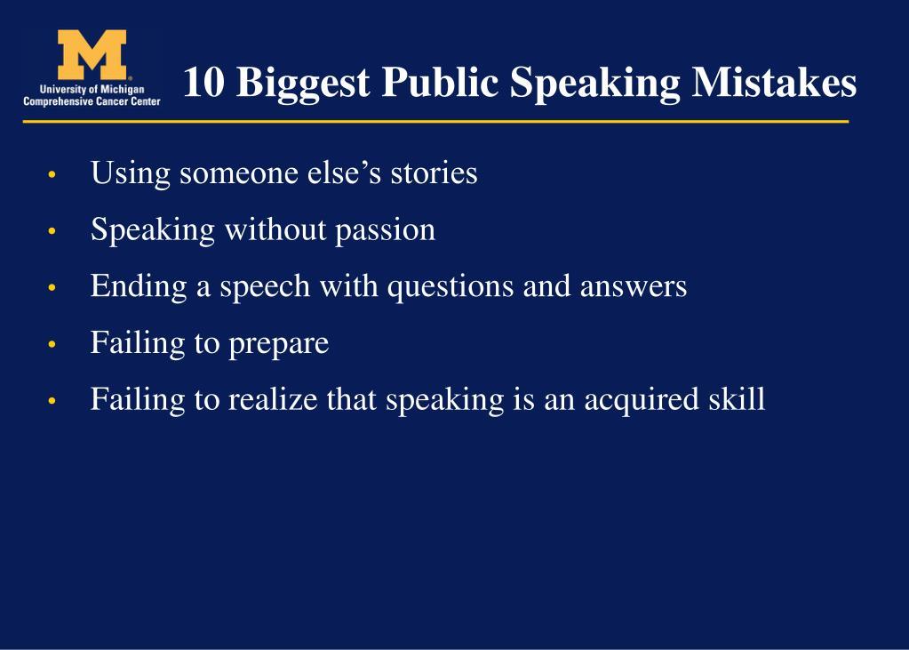 10 Biggest Public Speaking Mistakes
