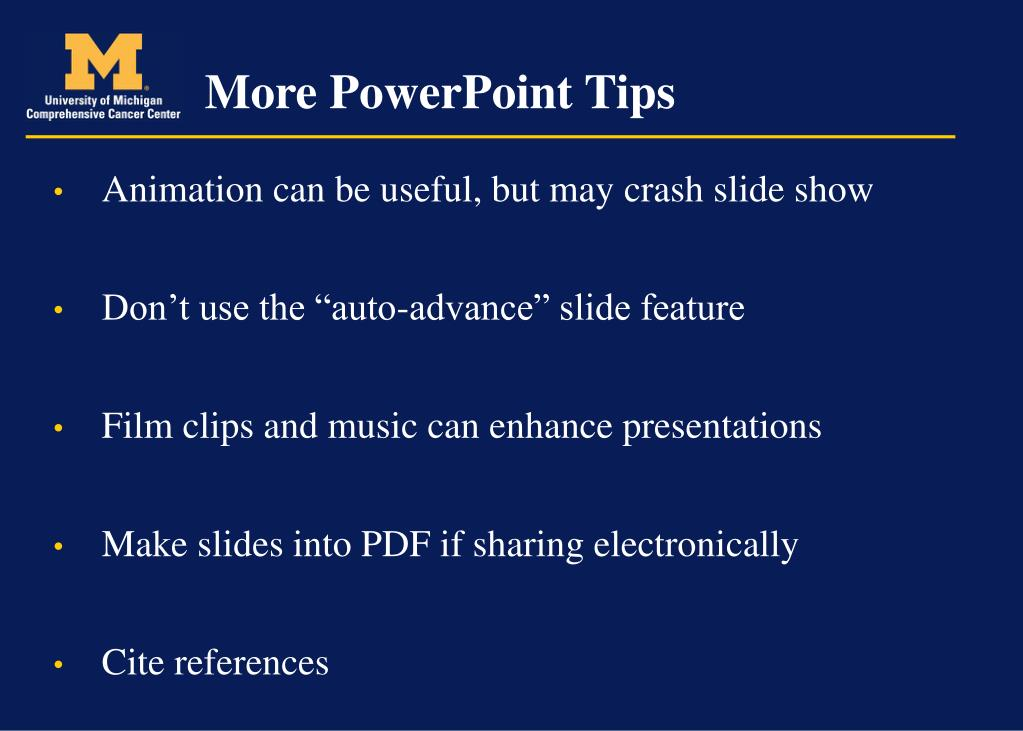 More PowerPoint Tips