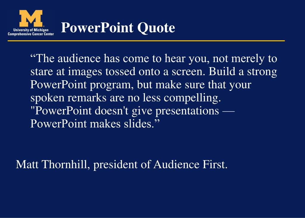 PowerPoint Quote