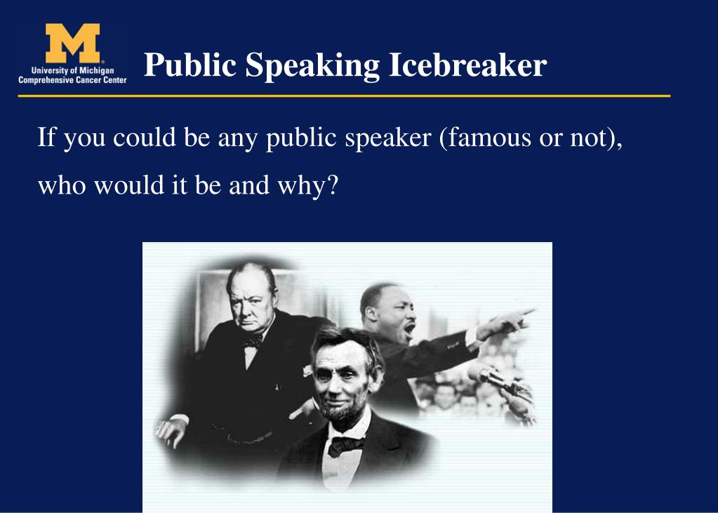 Public Speaking Icebreaker