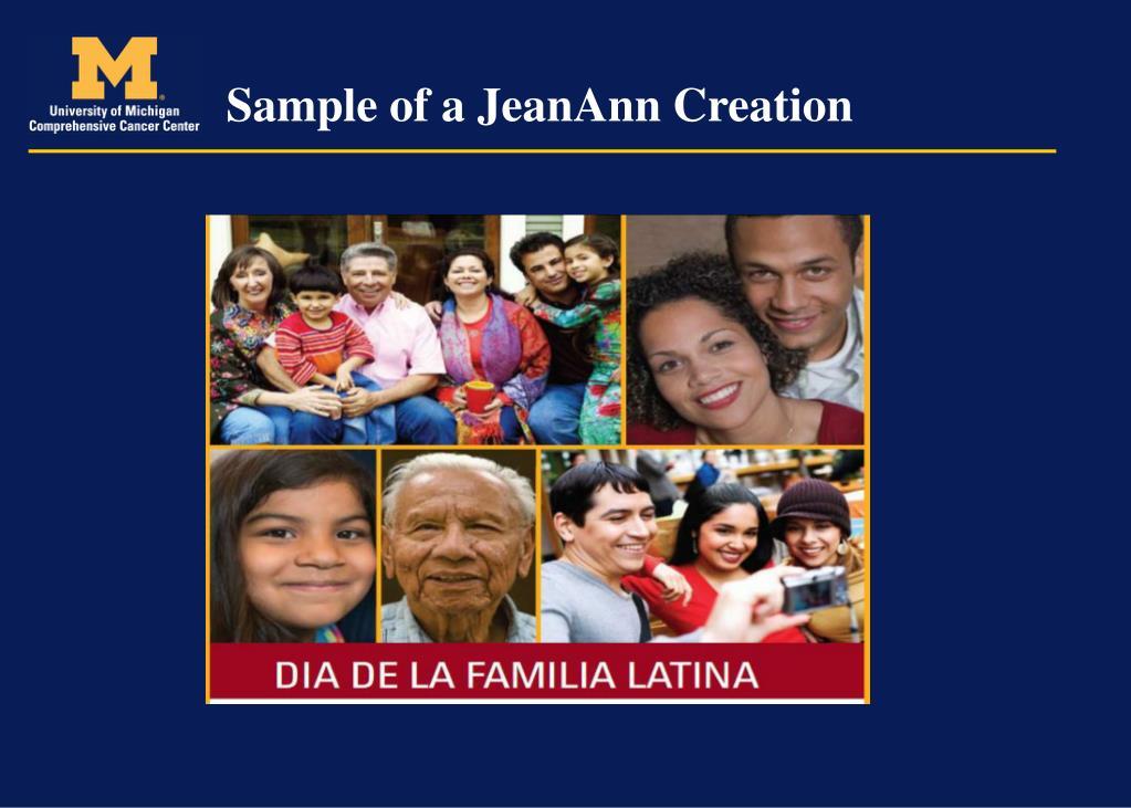 Sample of a JeanAnn Creation