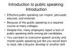introduction to public speaking introduction