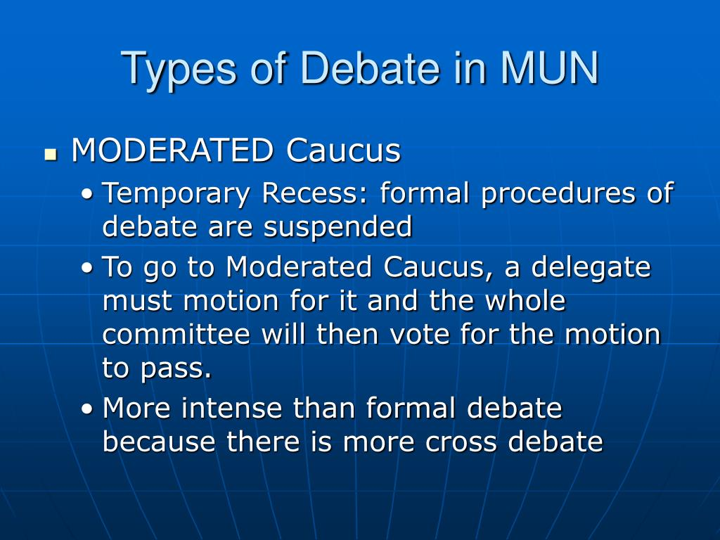 Types of Debate in MUN
