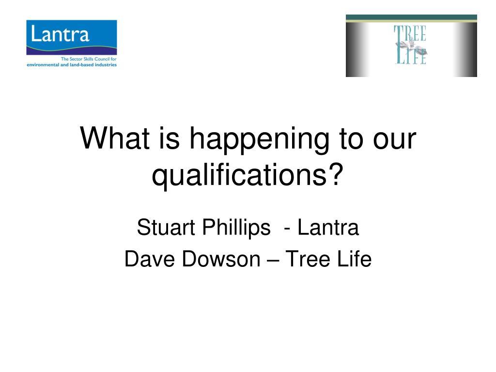 What is happening to our qualifications?