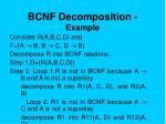 bcnf decomposition example