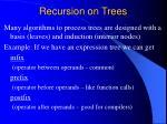 recursion on trees
