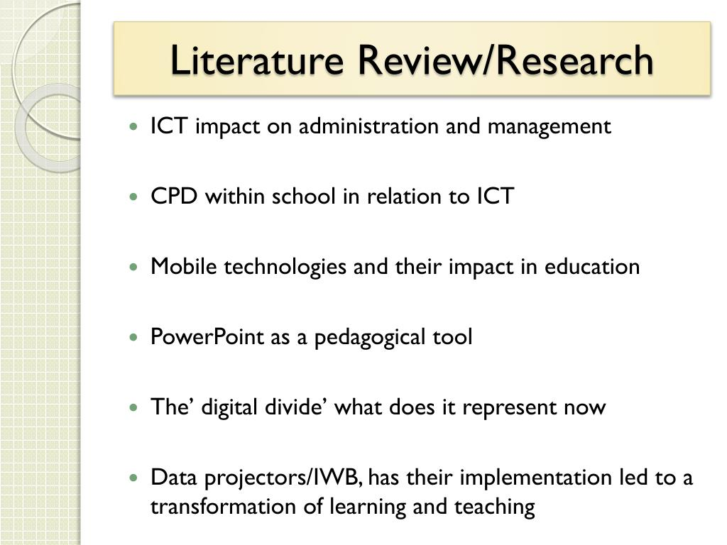 Literature Review/Research