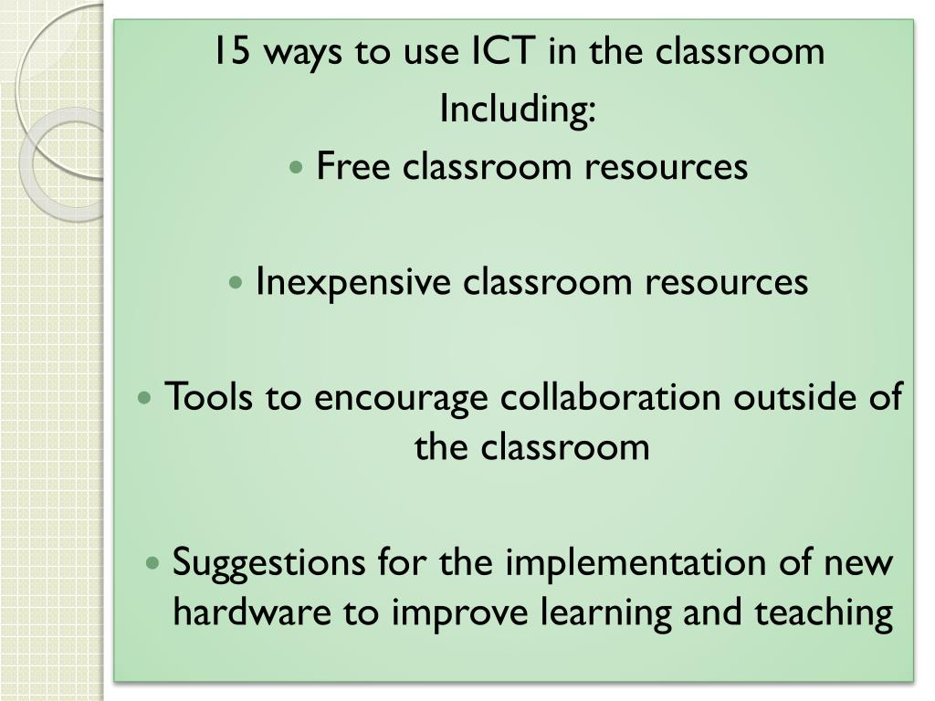 15 ways to use ICT in the classroom