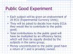 public good experiment
