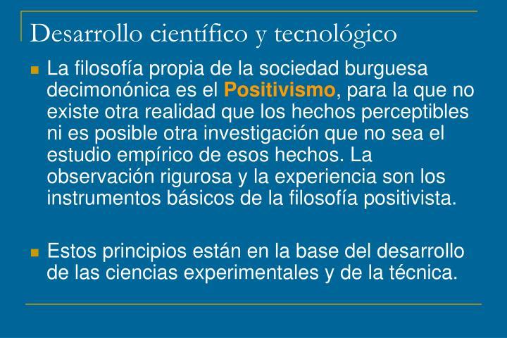 Desarrollo científico y tecnológico