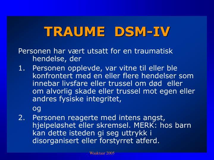 TRAUME  DSM-IV