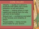 core values11