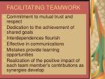 facilitating teamwork