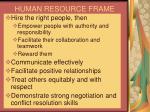 human resource frame29