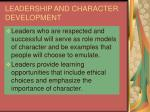leadership and character development