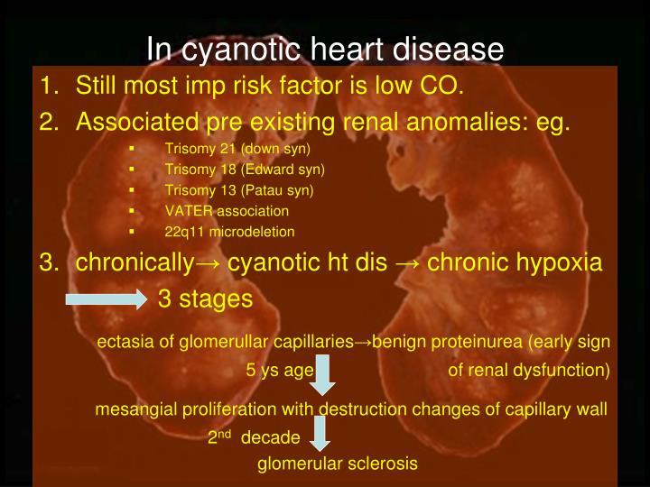 In cyanotic heart disease