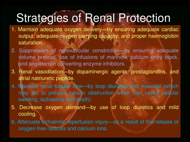 Strategies of Renal Protection