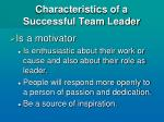 characteristics of a successful team leader9